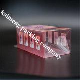 Firmenzeichen druckte das Großhandelspaket, das kosmetischer Plastikkasten-beweglichen Entwurf faltet (kosmetischen Kasten)