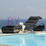 Loungers europei esterni della spiaggia della piscina del giardino dell'hotel di svago del rattan del PE di stile