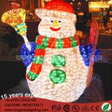 Pupazzo di neve di motivo di Decoraion 3D della via di natale del LED 200cm per Ce&RoHS esterno