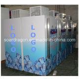 Único escaninho de armazenamento ensacado aprovado Ce DC-300 do gelo da porta posto de gasolina