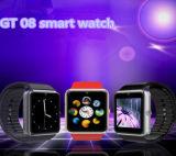 SIMスロットスポーツの腕時計が付いているGt08組み込みのカメラのスマートな腕時計