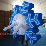 Do homem engraçado do floco de neve do adulto e da criança traje inflável para o partido