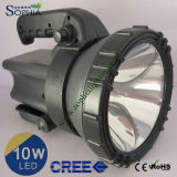 Nachfüllbarer 10W CREE LED Night Searcher mit Water Resistant Design
