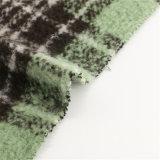 30%のウール70%Polyesterファブリック毛織の女性の小切手の衣服
