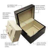 Eleganter schwarzer Klavier-Großhandelslack-einzelner Uhr-Schaukarton