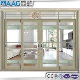 Porta de alumínio Forcommercial do metal da porta deslizante do pátio e edifício residencial