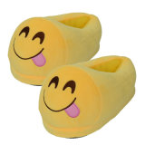 Emojiのスリッパのカスタムプラシ天のおもちゃ