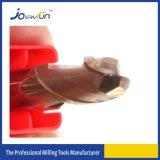 Molino de extremo revestido de la nariz de la bola del carburo de HRC 55 Tisin