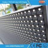 Visualización de LED a todo color de interior P10 de la alta calidad para hacer publicidad