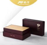 Contenitore di regalo di legno personalizzato della foglia di tè del MDF della metallina di lusso