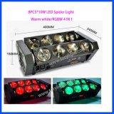 LED de luz de DJ 8PCS * 10W RGBW araña de luz