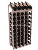 Стеллаж для выставки товаров вина бутылок хранения 50 деревянный для дома