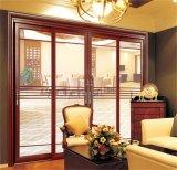 Алюминиевая раздвижная дверь стекла балкона