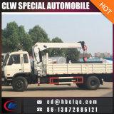 grue télescopique de boum montée par camion de Dongfeng Rhd de camion de la grue 6ton