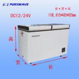 Purswave 118L DC Freezer Refrigerador portátil Refrigerador solar DC12V24V48V Batería congelador -18degree
