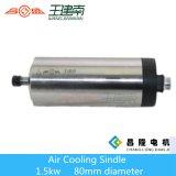 Ranurador de alta velocidad Spingle del CNC de la refrigeración por aire 1.5kw para la talla de madera