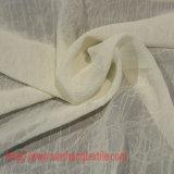 Tessuto chiffon del poliestere del fiore della godronatura per la tenda del vestito