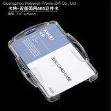 Владец карточки пользы Doule держателя кредитной карточки удостоверения личности трудный пластичный