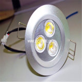 3X1w White+BlackのシェルLED Downlight