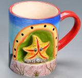 De grappige Mok van het Steengoed van de Douane van het Beeldverhaal 3D Ceramische Kop Gepersonaliseerde
