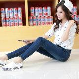 2017 Lady′ S Magere Geschikte Uitstekende kwaliteit Gewassen Katoenen Stretchable Jeans