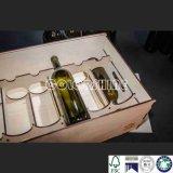 Rectángulo de regalo de madera del embalaje del vino de la alta calidad