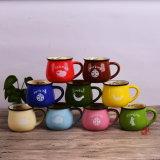 Logotipo del desayuno taza de café de la taza taza de la leche del desayuno personalizado Copa