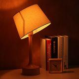 Lámpara de vector de madera con estilo del hotel de familia de la cortina de la tela