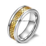 Ring van de Juwelen van het Roestvrij staal van de Juwelen van Shineme de Gouden Populaire (SSR2770)