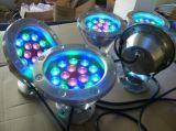 La pesca subacquea a forma di del fiore illumina il LED con il basamento