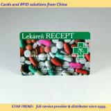 Cartão do serviço de urgências feito do PVC com listra magnética (ISO 7811)