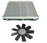 Le compresseur d'air de vis partie le ventilateur de l'eau de ventilateur de refroidisseur d'air de lame