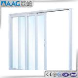 Porte coulissante en verre en aluminium d'épreuve de son de modèle moderne double