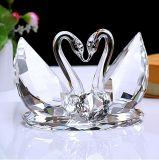 Cisne cristalino como decoración de la boda