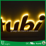 Letras de canaleta Backlit muito brilhantes do diodo emissor de luz 3D para a loja