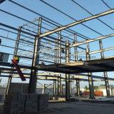 Edificio de marco de acero industrial de dos pisos con la estructura durable