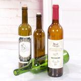 Bouteilles en verre pour le vin rouge/vin de raisin avec le taquet de liège, bouteilles en verre d'esprit de boisson alcoolisée