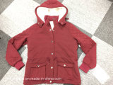 Cappotto del cotone di disegno di colore rosso delle signore nuovo