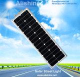 el sensor de movimiento de la lámpara PIR del jardín 30W integró todos en una luz de calle solar