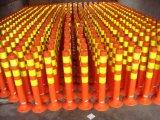 """Cone do tráfego do vinil da cortina com base preta e 6 """" Upper/4 """" mais baixo colar reflexivo, 28 """" alturas, vermelho/laranja"""