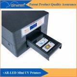 Impressora UV Flatbed do tamanho A4 para o cartão do PVC, impressão da caixa do telefone