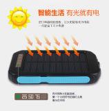 Banco da potência solar com alarme do SOS e o diodo emissor de luz forte 6000mAh claro