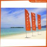 Bekanntmachen der Fliegen-Förderung-Strand-Feder-Markierungsfahnen-Fahne