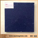 Tuiles et brames artificielles bleues de pétillement de pierre de quartz de qualité