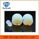 바디 날카로운 보석 Opalite에 의하여 새겨지는 꽃 돌 귀마개