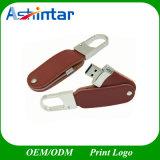 Mecanismo impulsor del flash del USB del cuero del palillo del metal USB3.0