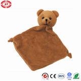 Cobertor macio En71 do luxuoso do bebê do urso com brinquedo de Teether
