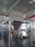 コンベヤーベルトが付いているBagging機械の重量を量っているトウモロコシ