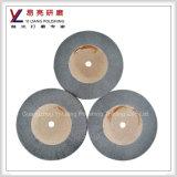 Roda não tecida das esponjas para as rodas de madeira da aleta do cetim do desenho da superfície de metal