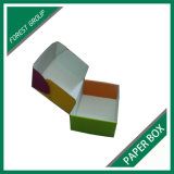 Caja de embalaje del cartón de la impresión de la insignia de la marca de fábrica del papel acanalado del regalo